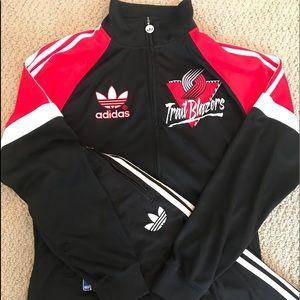 Portland Blazers zip up sweatshirt
